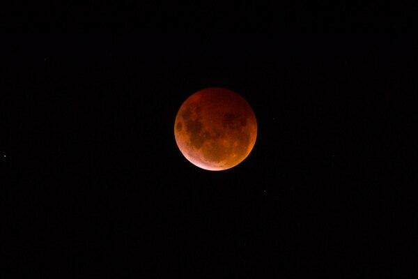 Eclipse total de Luna. Foto: Alonso Tenorio