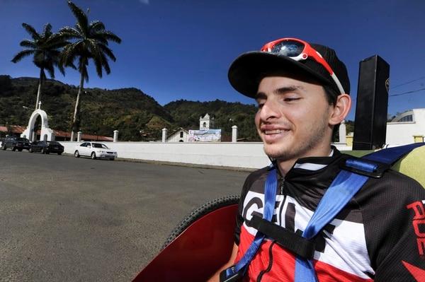 Juan Gutiérrez listo para disfrutar del aire de la Vieja Metrópoli.
