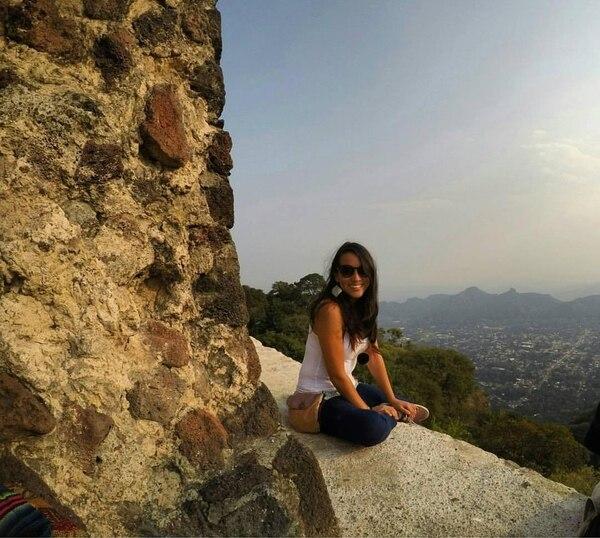 Estefanía Valverde en Tepoztlán, México. Ese es uno de los países al que le gustaría irse, al igual que Chile y Colombia.