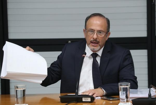 El exdirector de Aduanas, Benito Coghi, durante su comparecencia en la Comisión Especial Investigadora de Créditos Bancarios.
