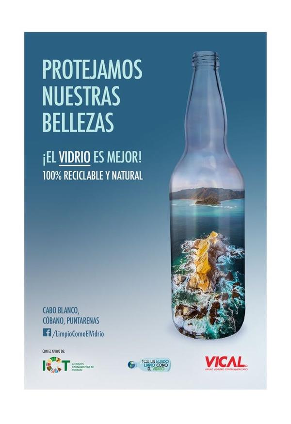 Esta es una de las botellas con la imagen de la campaña