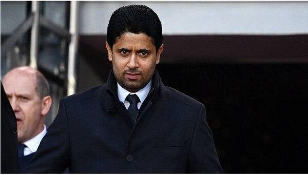 El billonario Nasser Al-Khelaïfi, presidente del grupo mediático beIN Sports, de Catar, y también presidente ejecutivo del club más rico de Francia.