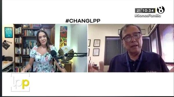 Muy interesante estuvo la entrevista virtual entre Pilar Acuña y el astronauta Franklin Chang. Captura de pantalla