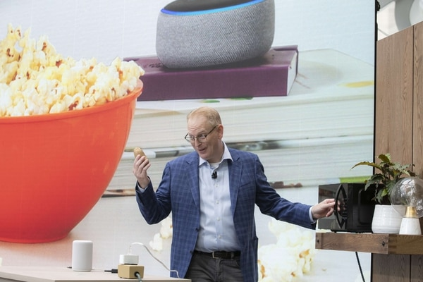 SEATTLE, WA - SEPTEMBER 20: Dave Limp, Senior Vice President of Amazon Devices, demonstrates the
