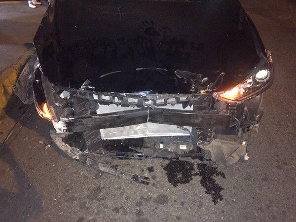 Jake Beckford tenía unos cuatro meses de conducir el vehículo que este miércoles quedó en pérdida total. Foto: Cortesía Jake Beckford