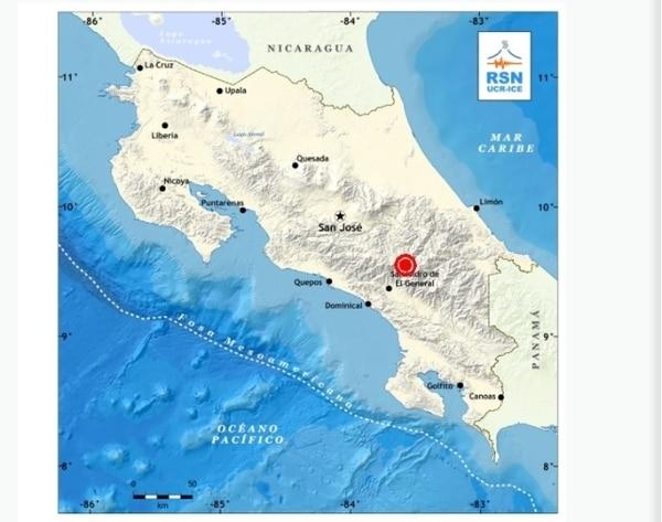 La Red Sismológica Nacional reportó un temblor en el sector de Quepos.