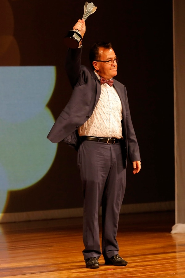 Uriel Quesada, ganador del Premio Nacional de Literatura Aquileo J. Echeverría en la categoría Cuento este año. Foto: Mayela López