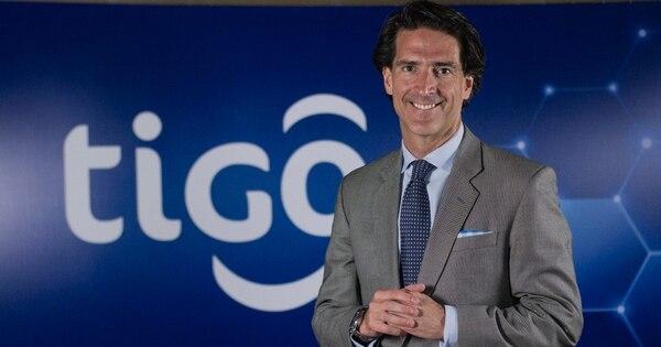 Imagen de Mauricio Ramos, director ejecutivo de Millicom, divulgada este 30 de abril, durante la presentación de resultados financieros de la empresa dueña de la marca Tigo / Millicom para LN
