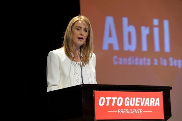 La candidata a vicepresidenta de la República por el Movimiento Libertario, Abril Gordienko, habló de la propuesta social de su Partido. | PABLO MONTIEL
