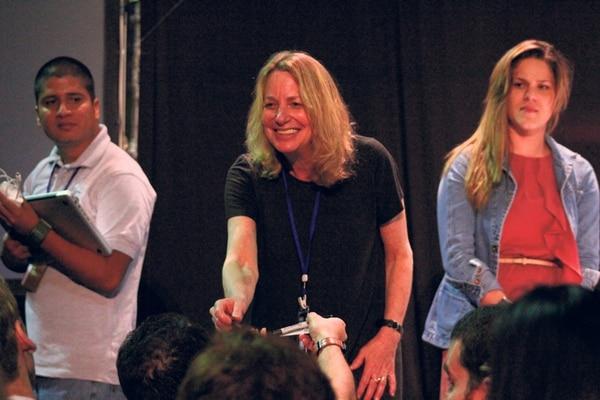 Paula Scher fue uno de los pesos pesados que visitaron Costa Rica en el 2011.   FOTO: CAROL ENCISO Y KAPLAN PIRGON