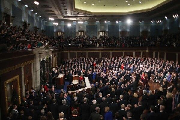 Ante las dos cámaras del Congreso e invitados especiales, el presidente Donald Trump pronunció su primer discurso sobre el Estado de la Unión, este martes 30 de enero del 2018.