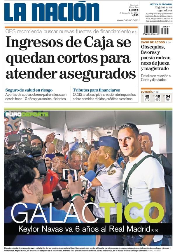 4 de agosto 2014. Keylor Navas firmó con el Real Madrid por seis años luego del Mundial de Brasil 2014.