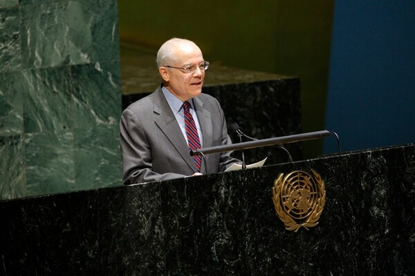 Ulibarri en una intervención ante la Asamblea General de la ONU en diciembre del 2010. El miércoles volvió a dirigirse al foro para descalificar la invasión rusa en Ucrania. | ARCHIVO.