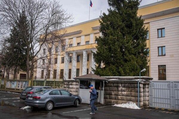 Embajada de Rusia en Bucarest, Rumania.