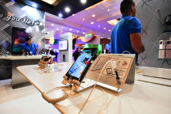 Durante la sexta edición de la ExpoTelecom 2014 se presentó el Galaxy Note 4