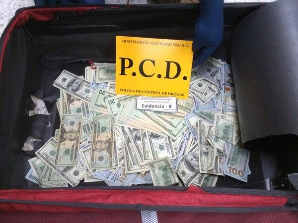Este fue el dinero que decomisaron al mexicano. Foto: Cortesía de MSP