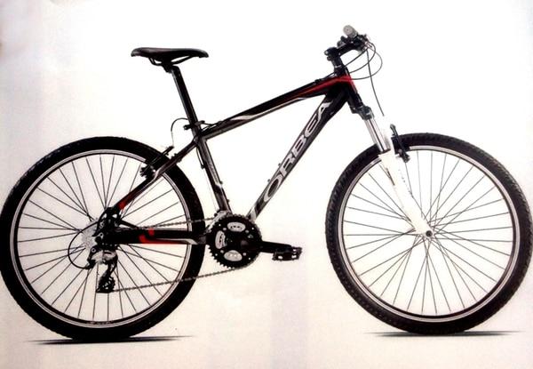Esta es la bicicleta marca Orbea, color negro con rojo, usada por el pintor. Cualquier dato se puede dar al 800-8000645 del OIJ.   FAMILIA GONZÁLEZ PARA LN