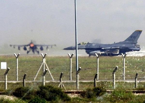 Aviones estadounidenses en la base aérea de Incirlik, en Turquía.