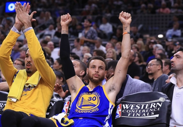 Stephen Curry celebra el pase a la final de la NBA. | AFP