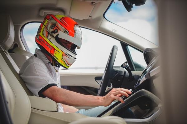 Bernal Valverde fue quien registró el mejor tiempo en la primera edición del 'Jaguar eLegends Challenge'. Fotografía: Prensa Parque Viva