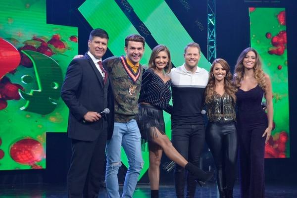 Los presentadores de 'El Chinamo' 2019 fueron Carlos Álvarez, Víctor Carvajar, Marilin Gamboa, Mauricio Hoffman, Keyla Sánchez y Natalia Carvajal. Foto: María José Quesada Soto.