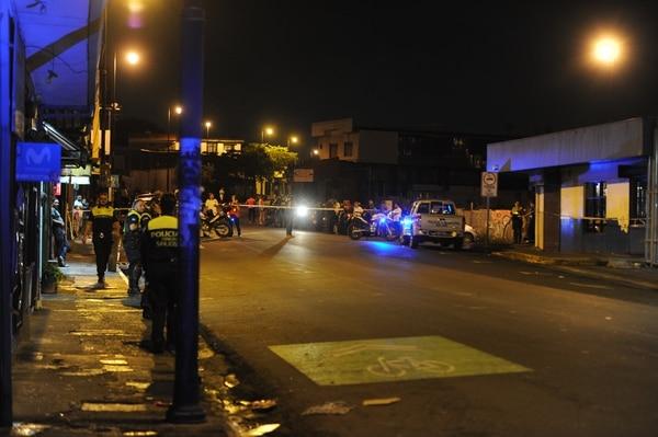 El crimen se reportó en la terminal de buses de Puntarenas este jueves 9 de agosto por la noche. Foto: Melissa Fernández