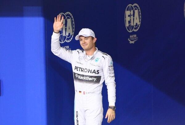 Nico Rosberg saldrá el domingo en primer lugar durante el Gran Premio de Abu Dabi.
