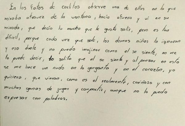 Diario escrito por Carlos. Reproducción: Rafael Murillo