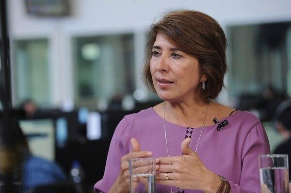 Edna Camacho, ministra de coordinación económica. Foto: Jorge Castillo.