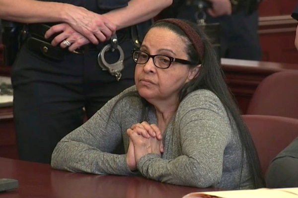 Yoselyn Ortega durante su primera audiencia en el juicio que enfrentó en Nueva York, el 1.° de marzo del 2018
