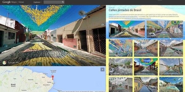 Así se ven las calles pintadas en Brasil vía Google Maps