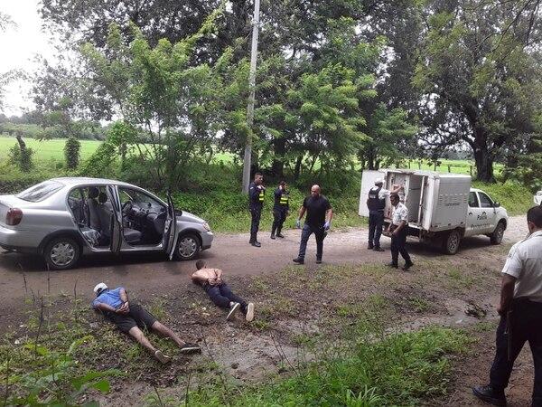Los tres sujetos fueron captados rápidamente por un policía penitenciaria. Foto: Ministerio de Justicia