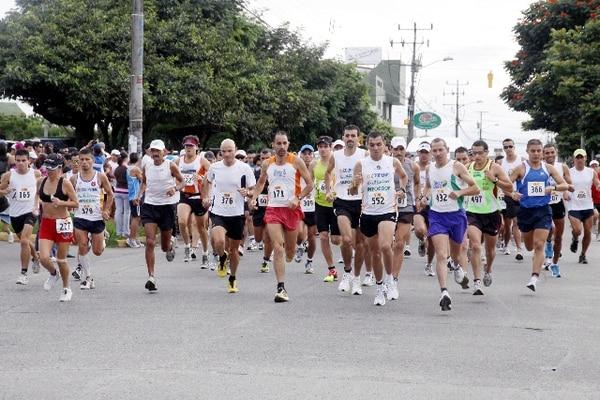 La media maratón Gatorade se correrá el domingo a partir de las 5:30 a. m. con salida en el colegio Metodista, en Sabanilla de Montes de Oca y meta en el Paseo Colón. / Archivo