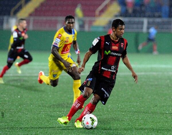 Armando Alonso anotó el gol de la victoria para Alajuelense cuando enfrentó al Chorrillo en el Morera Soto, el 28 de agosto. | JONATHAN JIMÉNEZ