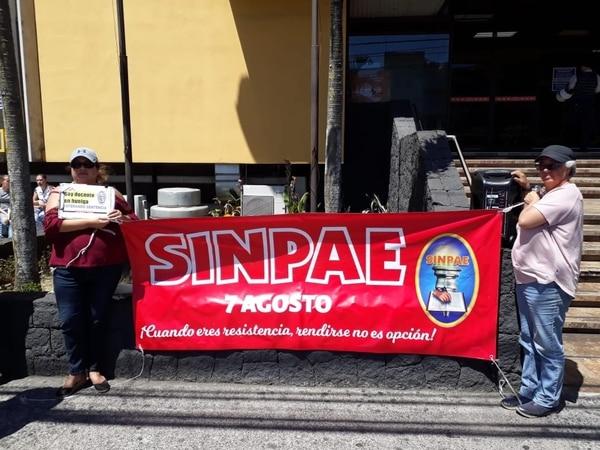 El Ministerio de Educación Pública no reconoce al Sinpae como sindicato. Foto: Esteban Oviedo.