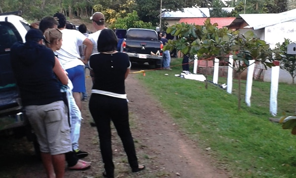 El homicidio ocurrió en la casa de habitación de la víctima, ubicada en el caserío Alto del Manahus de Los Ángeles, Tilarán, Guanacaste. | JULIO SEGURA