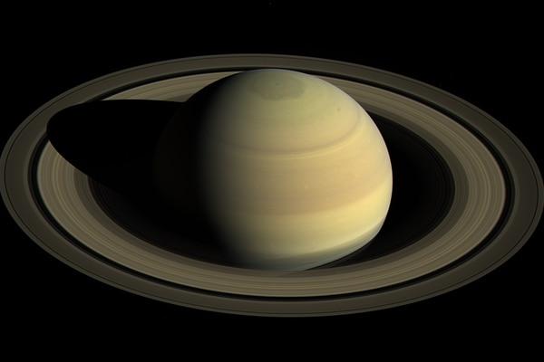 La sonda Cassini exploró las características de Saturno y descubrió una composición química inusual en sus anillos. Ilustración: NASA