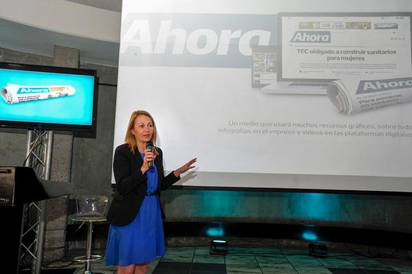 Guiselly Mora será la directora del nuevo periódico de Grupo Nación, Ahora, que circulará a partir del 21 de julio.