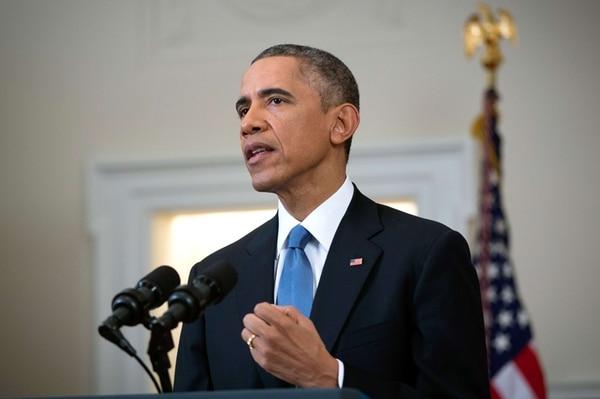 Barack Obama cuando hacía el trascendental anuncio. | AFP