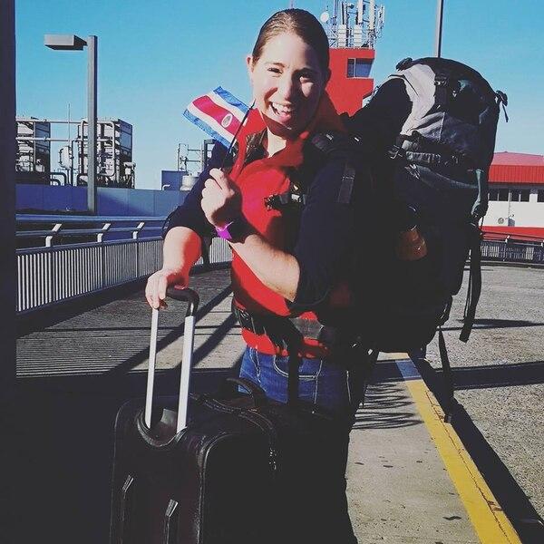 La oceanógrafa Melania Guerra, se encuentra en este momento viajando por la Antártida junto a otras 79 científicas de 35 país. Foto: Facebook Melania Guerra