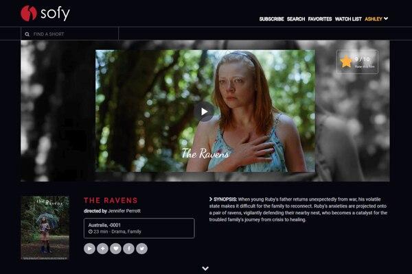 Así luce Sofy.tv, plataforma de streaming para cortometrajes. Cortesía de Sofy.