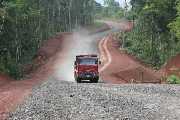 La trocha fronteriza con Nicaragua es denominada carretera 1856-Juan Rafael Mora Porras. | ARCHIVO.