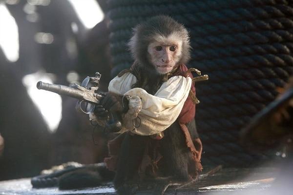 El mono Jack antes había atacado a una maquilladora en el set.