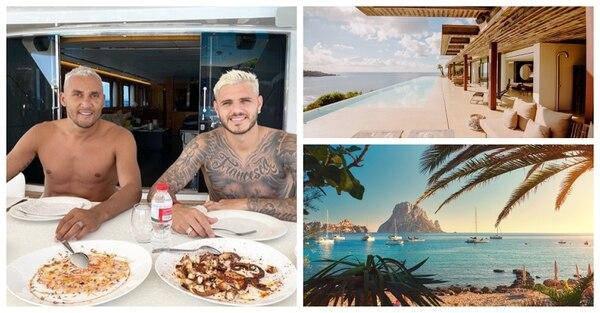 Junto a Mauro Icardi y otros futbolistas del PSG, Keylor Navas disfrutó de unas vacaciones por todo lo alto en Ibiza. Fotomontaje