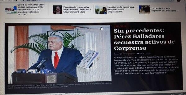 El diario 'La Prensa' dio cuenta en su edición digital de la acción judicial.