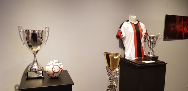 También se exhibieron los trofeos ganados por el club. Fotografía: Fanny Tayver