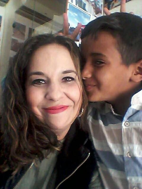 La costarricense Tatiana Gamboa Freer dice que los palestinos son muy cálidos y amables. Aquí con un niño beduino de Jerusalén del Este.