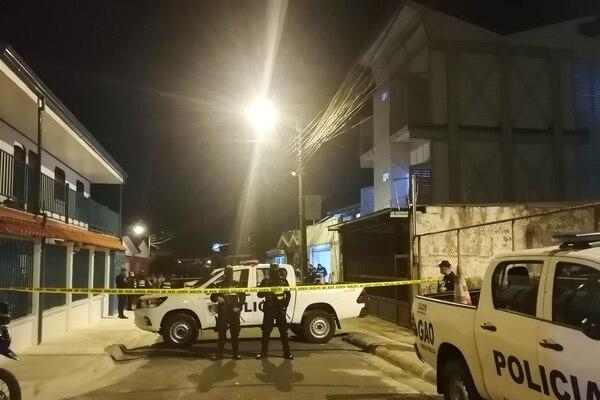 Fuerza Pública custodió la escena. Foto: Keyna Calderón