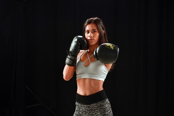 La boxeadora Jennifer Rodríguez tiene más de dos años de entrenar junto a la campeona mundial Yokasta Valle. Fotografía: Jorge Castillo