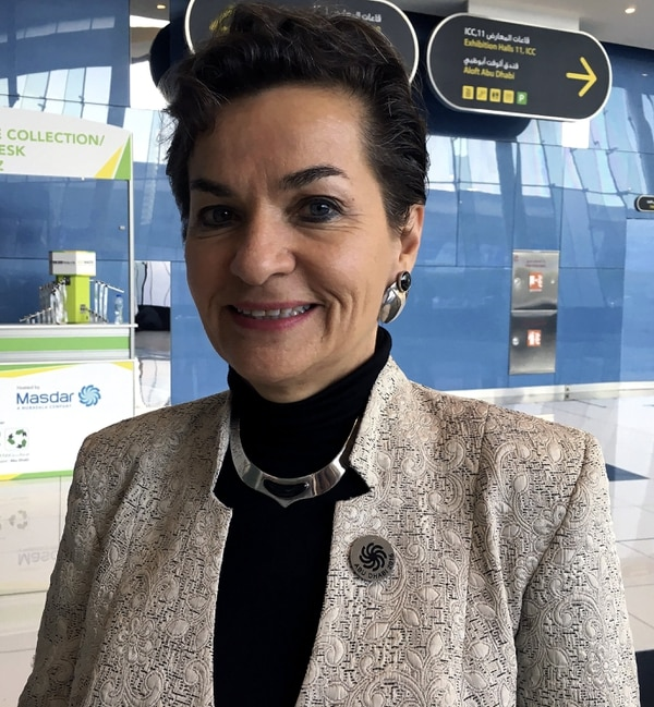 La secretaria de la Convención Marco de Naciones Unidas sobre el Cambio Climático (CMNUCC), la costarricense Christiana Figueres, que participa en el Congreso Mundial Energía del Futuro en Abu Dabi, en una entrevista con Efe considera que el acuerdo del clima acordado en París